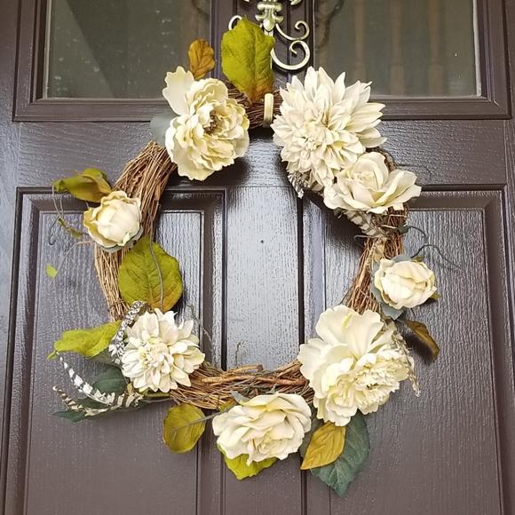 Vintage Rose/Peony Wreath